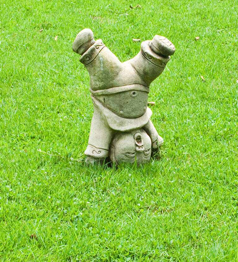 chinese statue on the grass mobile topbig jopt